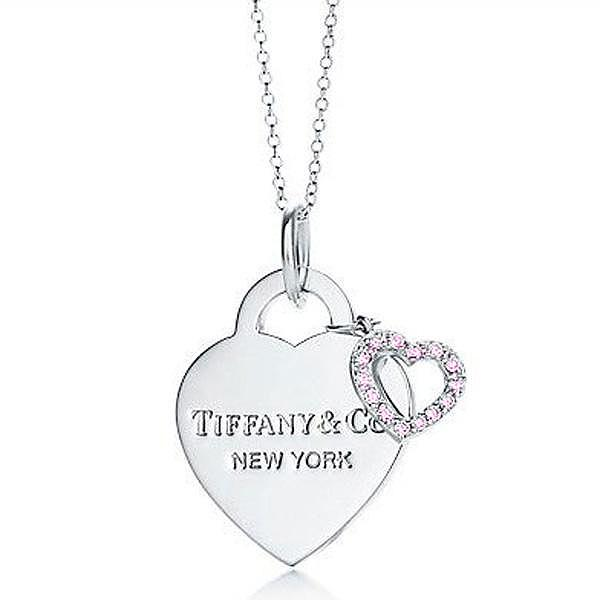 Tiffany Hearts Pendant With Round Diamonds